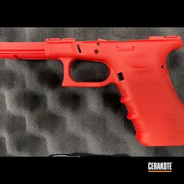 Glock 17 Frame Cerakoted Using Usmc Red