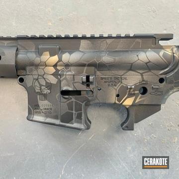 Kryptek Camo Ar Builders Set Cerakoted Using Sniper Grey, Graphite Black And Tungsten