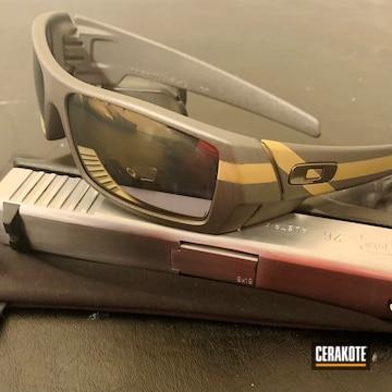 Oakley Sunglasses Cerakoted Using Stainless, Graphite Black And Burnt Bronze