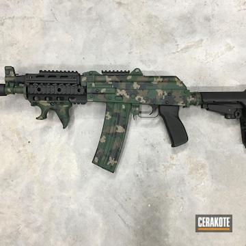 Custom Camo Ak Cerakoted Using Patriot Brown, Highland Green And Graphite Black