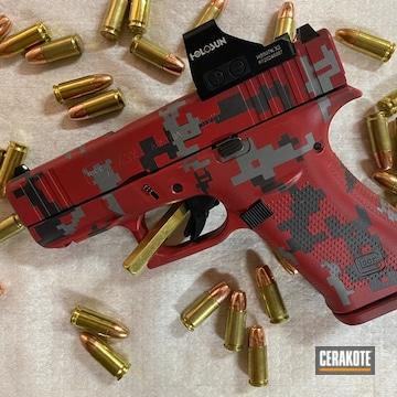 Digicam Glock 43x Cerakoted Using Titanium, Fire And Carbon Grey