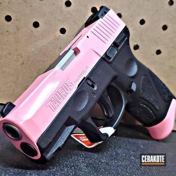 Taurus G2c Pistol Cerakoted Using Pink Sherbet