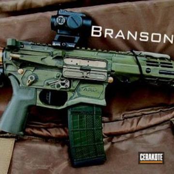 Ar Build Cerakoted Using Noveske Bazooka Green And Graphite Black