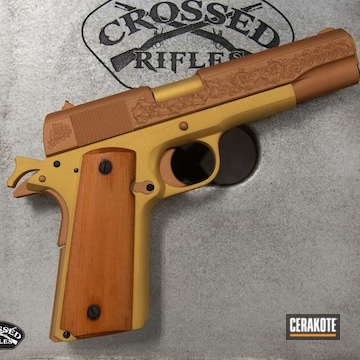1911 Cerakoted Using Copper And Gold