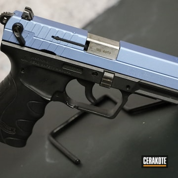 Walther Pistol Cerakoted Using Polar Blue