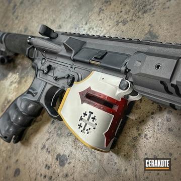 Ar Build Cerakoted Using Crimson, Frost And Cobalt