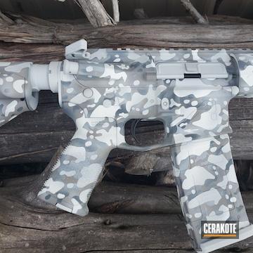 Custom Camo Ar Build Cerakoted Using Hidden White, Multicam® Dark Grey And Steel Grey