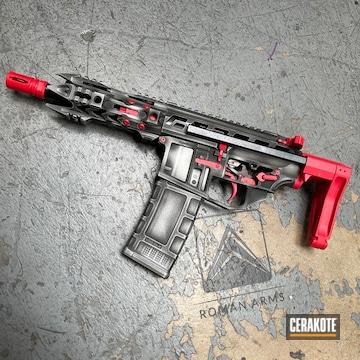 Distressed Ar Cerakoted Using Satin Aluminum, Usmc Red And Graphite Black
