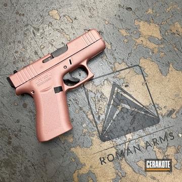 Glock 43x Cerakoted Using Rose Gold