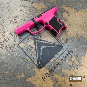 Sig Sauer P365 Pistol Cerakoted Using Prison Pink