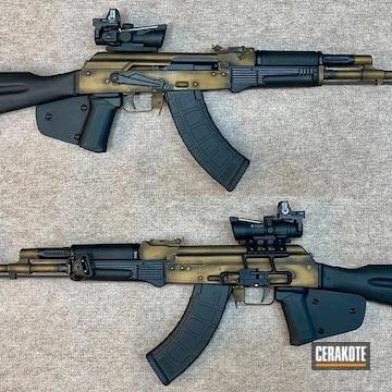 Distressed Ak-47 Cerakoted Using Graphite Black And Burnt Bronze