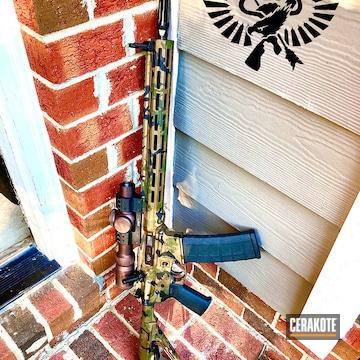 Custom Camo Ar Cerakoted Using Armor Black, Sniper Green And Glock® Fde