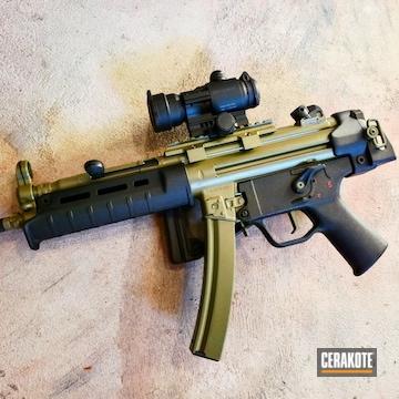Mk 9mm Cerakoted Using Noveske Bazooka Green