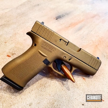 Glock 43x Cerakoted Using Burnt Bronze