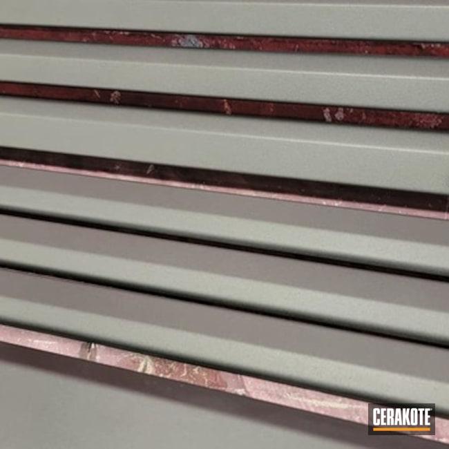 Fireplace Trim Cerakoted Using Cobalt
