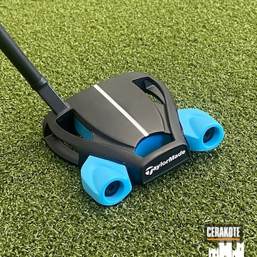 Taylor Made Putter Cerakoted Using Blue Raspberry And Graphite Black
