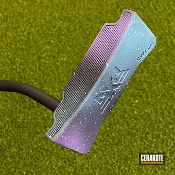 Pxg Galaxy Themed Putter Cerakoted Using Graphite Black, Purplexed And Robin's Egg Blue