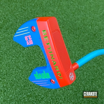 Bettinardi Putter Cerakoted Using Nra Blue, Aztec Teal And Ruby Red