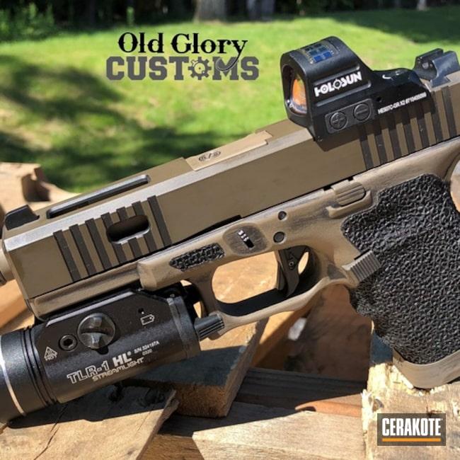 Custom Glock 19 Cerakoted Using Glock® Fde, Graphite Black And Magpul® Fde