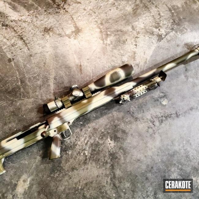 Custom Camo Barrett M99 Rifle Cerakoted Using Magpul® Stealth Grey, Desert Sage And Forest Green