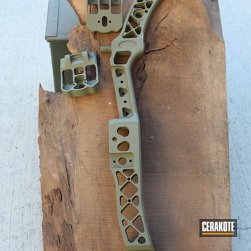 Compound Bow Cerakoted Using Forest Green