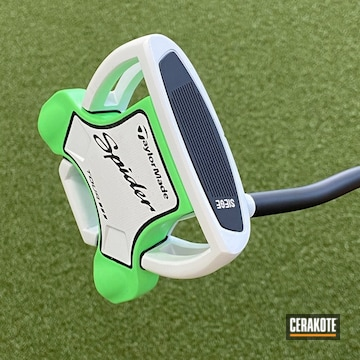 Taylor Made Putter Cerakoted Using Stormtrooper White And Parakeet Green
