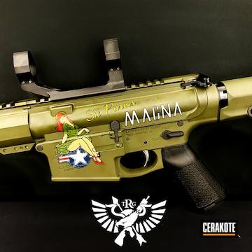Ar Cerakoted Using Noveske Bazooka Green, Desert Sand And Sniper Green