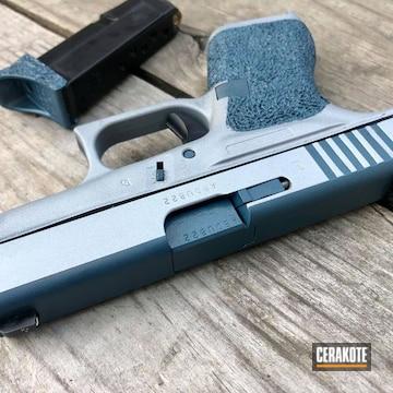 Glock 42 Cerakoted Using Satin Mag And Blue Titanium