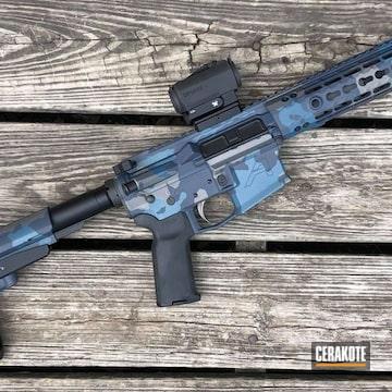 Custom Ar Cerakoted Using Magpul® Stealth Grey, Tactical Grey And Blue Titanium
