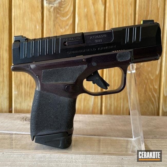 Springfield Armory Hellcat Pistol Cerakoted Using Gloss Black And Carbon Grey