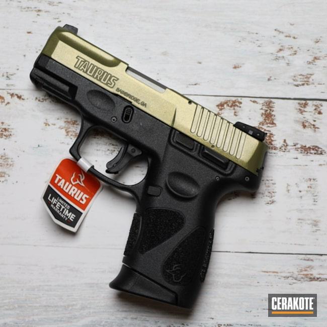 Taurus G2c Pistol Cerakoted Using Noveske Bazooka Green And Cerakote Fx Ranger