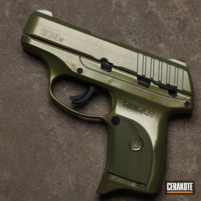 Ruger Ec9s Pistol Cerakoted Using Noveske Bazooka Green And Cerakote Fx Ranger
