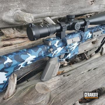 Custom Camo Ar Cerakoted Using Hidden White, Kel-tec® Navy Blue And Socom Blue