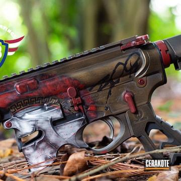 Ar Cerakoted Using Crimson And Burnt Bronze