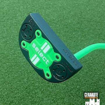 Scotty Cameron Cerakoted Using Parakeet Green And Graphite Black