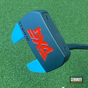 Pxg Putter Cerakoted Using Blue Raspberry And Graphite Black