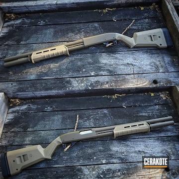 Remington 870 Shotgun Cerakoted Using Patriot Brown And Magpul® Flat Dark Earth