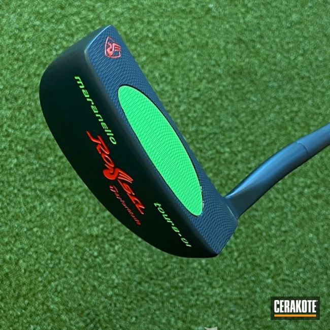 Taylormade Putter Cerakoted Using Graphite Black And Green Mamba
