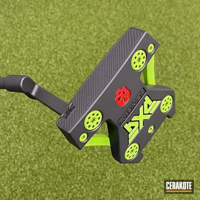 Pxg Putter Cerakoted Using Graphite Black And Green Mamba