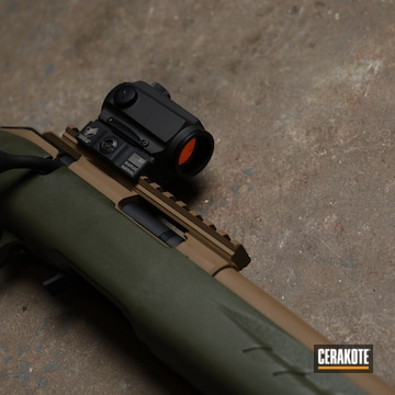 Savage Arms Bolt Action Rifle Cerakoted Using Barrett® Brown
