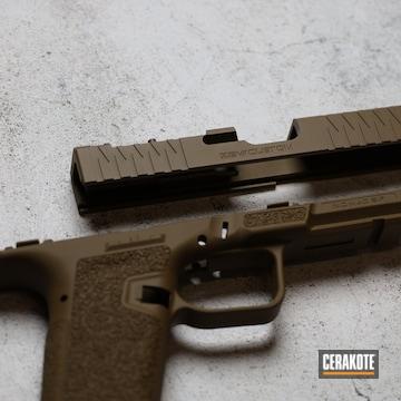 Zec Custom Slide Cerakoted Using Federal Brown