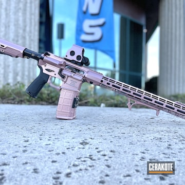 Ar-15 Cerakoted Using High Gloss Ceramic Clear, Blackout And Pink Champagne