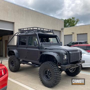 Land Rover Defender Cerakoted Using Sniper Grey, Concrete And Cerakote Glacier Black