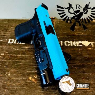 Glock Cerakoted Using Blue Raspberry