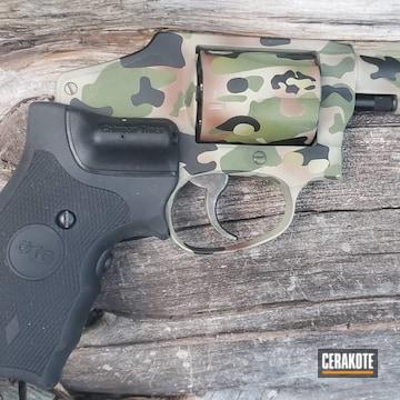 Custom Camo Smith & Wesson Revolver Cerakoted Using Multicam® Dark Brown, Armor Black And Benelli® Sand