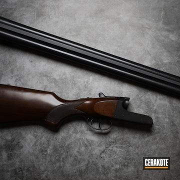 Shotgun Cerakoted Using Blackout