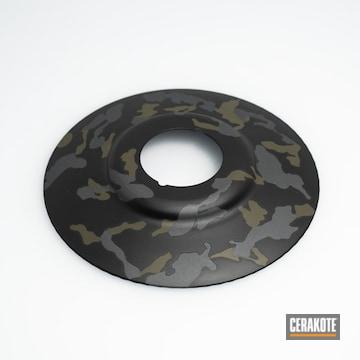 Custom Camo Light Shields Cerakoted Using Sniper Grey, Graphite Black And O.d. Green