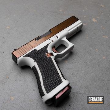 Glock 17 Cerakoted Using Hidden White