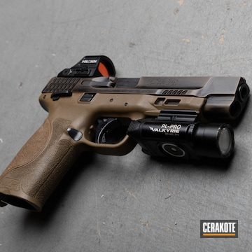 Smith & Wesson M&p9 Cerakoted Using Graphite Black And Flat Dark Earth