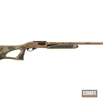 Remington 870 Cerakoted Using Patriot Brown, Multicam® Bright Green And Multicam® Dark Green